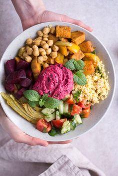 Marokkanische Bowl - rein pflanzlich, vegan, glutenfrei, ohne raffinierten Zucker - de.heavenlynnhealthy.com