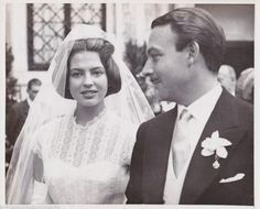 Principe Alfonso zu Hohenlohe-Langerburg y princesa Ira zu Furstenberg. 1955