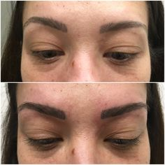 Perfect eyebrow reshaping with permanent makeup  #chakanatattoo