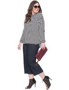 Polka Dot Tie Neck Blouse | Women's Plus Size Tops | ELOQUII