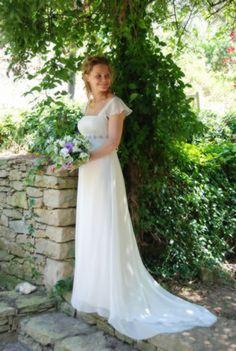 Jane austen wedding inspiration via wedding sparrow blog for Regency style wedding dress