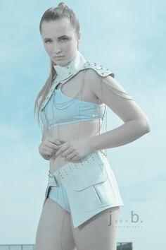 Maya Moore modeling for Photographer: John B. Photography.  Wearing Designer:  Ayvazyan & de Beauvoir Couture