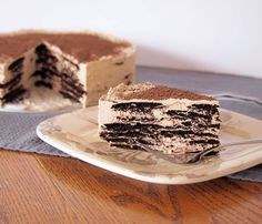 Mocha Mascarpone icebox Cake from Trampling Rose