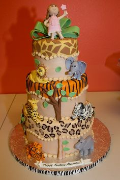 Safari Birthday Cake