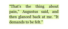 Pain quote the fault in our stars
