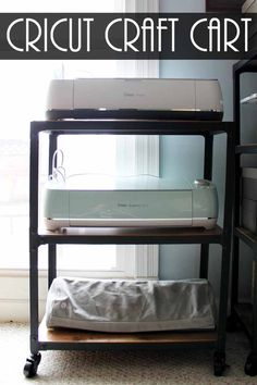 Craft Storage Cart Perfect for Your Cricut Use this craft storage cart for your Cricut machine and more! The perfect solution! The post Craft Storage Cart Perfect for Your Cricut appeared first on Storage ideas. Craft Storage Furniture, Craft Storage Cart, Craft Storage Solutions, Diy Storage, Office Furniture, Smart Storage, Storage Ideas, Bedroom Storage, Printer Storage