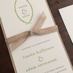 Vintage Wedding Invitation Suite // Rustic and Vintage // Twine Burlap and Green // Custom // Etsy Rehearsal Dinner Invitations, Vintage Wedding Invitations, Wedding Invitation Suite, Wedding Stationary, Teddy Bear Baby Shower, Addressing Envelopes, Envelope Liners, Twine, Earthy