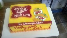 Miller high life Cake
