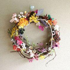 "wreath-colorful 3|ハンドメイド作品の購入・販売 ""iichi"""
