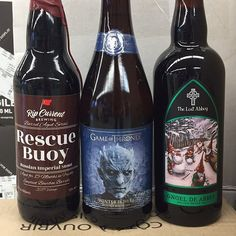 New beers in store @ripcurrentbrewing Bourbon Barrel-Aged Rescue Buoy Russian Imperial Stout @breweryommegang @gameofthrones Winter Is Here Double White Ale and @lostabbey Gnoel De Abbey Holiday Brown Ale!! #sandiego #sandiegoconnection #sdlocals #sandiegolocals - posted by SD Wine & Beer Co. https://www.instagram.com/sandiegowineandbeerco. See more San Diego Beer at http://sdconnection.com