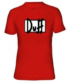 Duff - Los Simpsons #camiseta #starwars #marvel #gift
