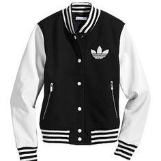 Original Adidas Baseball jacket for women- want it so bad. Holographic Jacket, Varsity Jacket Outfit, Casual Outfits, Fashion Outfits, Adidas Outfit, Striped Jacket, Sweater Weather, Pulls, Adidas Women