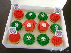 Classic vanilla cupcakes with vanilla buttercream Vanilla Buttercream, Vanilla Cupcakes, Liverpool Soccer, Soccer Fans, Cup Cakes, Baby Showers, Classic, Creative, Desserts