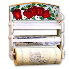 Apple Kitchen Decor Paper Towel Holder Wrap Organizer