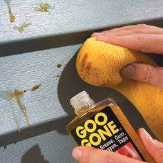 """Remove tree sap from vinyl siding"" -- This literally made me laugh out loud and smack my forehead. Yes, Goo Gone is used for removing sticky stuff. Do we really need to pin that? Next pin: ""Put your trash into a garbage can."" - yeah, I'm a smartass too!"