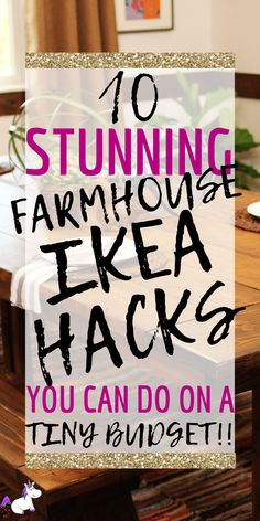 Farmhouse Ikea hacks that will give your home a cozy farmhouse style that looks way more expensive than it actually is! I don't know about you but I just cannot get enough of Ikea & Ikea hacks… if you love. Affordable Home Decor, Cheap Home Decor, Diy Home Decor, Farmhouse Garden, Farmhouse Style Kitchen, Farmhouse Decor, Farmhouse Ideas, Shabby Chic Vintage, Design Your Own Home