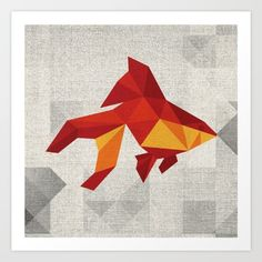 Geometric+fish+Art+Print+by+CR-eate+-+$17.68