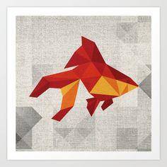 Geometric+fish+Art+Print+by+CR-eate+-+$17.68