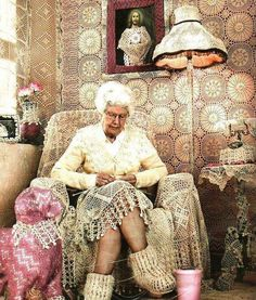 Thought you were a diehard crochet fan? This lady has got you beat.