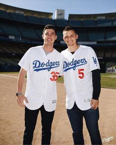Just a couple of studs at presented by and Let's Go Dodgers, Dodgers Nation, Dodgers Girl, Dodgers Baseball, Baseball Guys, Sports Baseball, Sports Teams, Softball, Basketball