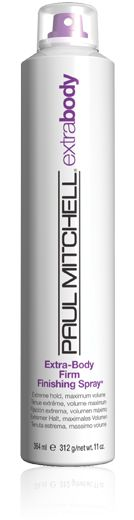 Paul Mitchell Extra Body Firm Finishing Spray. It's like concrete, but without the sticky.