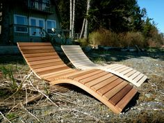 Foldable S Lounger by Bent Woodwork