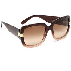 37dc6069902 Salvatore Ferragamo Gancino Gradient Sunglasses ( 245) ❤ liked on Polyvore  featuring accessories