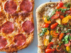 Basic Pepperoni Pizza and Four-Cheese Pizza : Once you prep Ree's go-to pizza dough, it's up to you to decide how to build your pie. Her no-fail pepperoni pie is a tried-and-true favorite, while the four-cheese pie is a creative twist on a classic, featuring a fresh mixture of grape tomatoes and basil atop layers of pesto and a mixture of mozzarella, fontina, goat cheese and Pecorino.