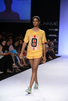 DAY 1- HUEMN Giving a sporty twist, the fashion forward designer duo presents a collection absorbed with lust-worthy pieces.   Shop straight off the runway: http://www.perniaspopupshop.com/lakme-fashion-week/huemn #straightofftherunway #designer #lakme #fashionweek #updates #indian #huemn #sporty #quirky #amazing #spring #fabulous