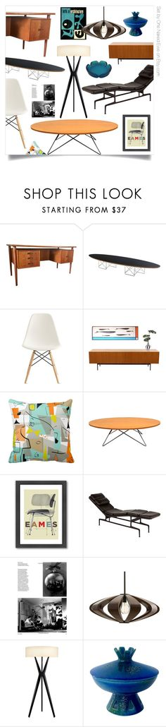 """Ode to Eames"" by onenakedewe ❤ liked on Polyvore featuring interior, interiors, interior design, home, home decor, interior decorating, Design Within Reach, Americanflat, Herman Miller and Charles and Ray Eames"