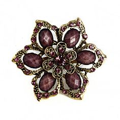 Another Choice for one of the Moms ...Women's  Exquisite Flower Rhinestone Brooch(Random Color) – USD $ 4.99