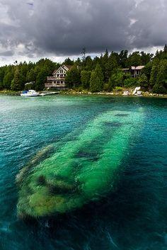 The Shipwreck, Tobermory, Ontario, Canada visit us @ http://travel-buff.com/
