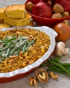 A smart take on a holiday classic, this winning recipe is lower in calories, total fat, saturated fat and sodium and features omega-3 rich walnuts.