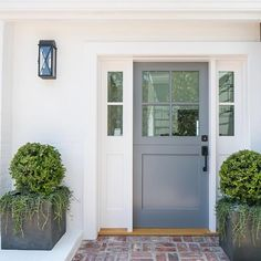 Stunning Dutch Door Design within the glamorous Texas … – Farmhouse Exterior Craftsman Garage Door Design, Front Door Design, Front Door Colors, Garage Doors, Front Porch Plants, Front Door Planters, Big Planters, Metal Planters, Exterior Doors