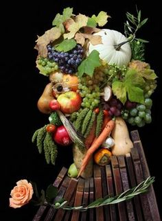 "Ok, so it's not flowers, but veggies and fruit used in a ""floral"" manner"