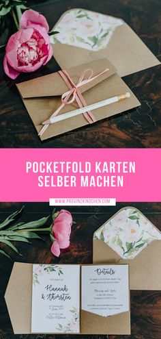 Make DIY pocketfold card for your wedding yourself Instructions for wedding invitation with video tutorial It s so easy to make the popular Pocktefold envelopes yourself diy hochzeit selbermachen Photo Nicole Frieda Fine Art Photography - Tutorial Photoshop, Tutorial Diy, Cheap Wedding Venues, Diy Wedding, Wedding Day, Destination Wedding, Wedding Makeup, Wedding Cards, Wedding Reception