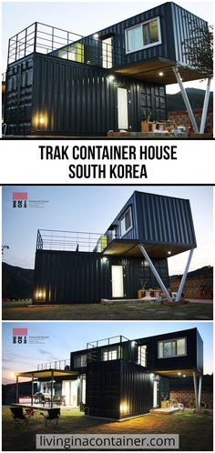 We continue to discover for you. Our container house on today's tour is from South Korea.  #shippingcontainerhomes #shippingcontainercabin #containerhouse #containerhousedesign #containerbuildings #containercabin #luxuryhomes #containerhomes #housedesign #beforeandafterhome Shipping Container Home Builders, Shipping Container House Plans, Shipping Containers, Prefab Houses, Park Model Homes, Container Buildings, Nice Houses, Eco Architecture, Container House Design