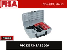 JGO DE PINZAS 360A. Piezas del juego 6-  FERRETERIA INDUSTRIAL -FISA S.A.S Carrera 25 # 17 - 64 Teléfono: 201 05 55 www.fisa.com.co/ Twitter:@FISA_Colombia Facebook: Ferreteria Industrial FISA Colombia