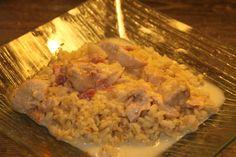 Poulet au reblochon au Cookéo Tzatziki, Rice Cooker, Feta, Mashed Potatoes, Chicken, Ethnic Recipes, Pizza, Table, Drinks