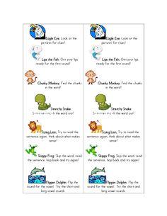 Beanie Baby Reading Strategies