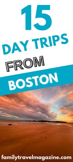 Boston Massachusetts offers lots of things to do with kids, but there are also some fabulous day trips that you can take from the city. Here are some of the best Boston day trips with kids to add to your bucket list - for summer, spring, winter, and fall.