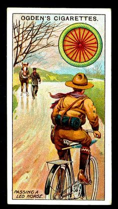 Cigarette Card - Scout Cyclist by cigcardpix, via Flickr