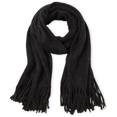 Steve Madden Fringe Wrap Scarf ($20) ❤ liked on Polyvore featuring accessories, scarves, black, fringe shawl, steve madden, wrap scarves, acrylic scarves and woven scarves