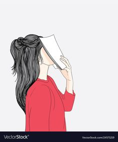 Women wearing red shirts are tired of reading books while she is in the universi… Cute Cartoon Wallpapers, Cartoon Pics, Girl Cartoon, Cover Wattpad, Girly Dp, Woman Illustration, Forest Illustration, Watercolor Illustration, Cute Girl Drawing
