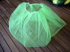 easy tulle skirt- fold length of tulle in half and sew long ends together to create a tube. stitch elastic to the folded portion.