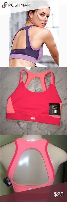 🆕VS Player Open-Back Sport Bra New with Tags!💜 Open Back Sport Bra💜 VSX Sport Victoria's Secret Intimates & Sleepwear Bras