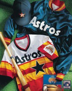 Houston Astros vintage collage