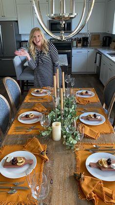 Fall Table Settings, Thanksgiving Table Settings, Christmas Table Settings, Christmas Table Decorations, Decoration Table, Thanksgiving 2020, Dining Table Settings, Dinning Table Decor Ideas, Everyday Table Settings