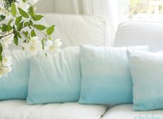 Easy ombre pillows- give it a try! Photo by In The Fun Lane