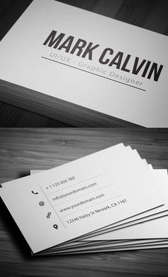Clean, simple business card design